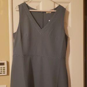 Never worn sleeveless blue/green dress